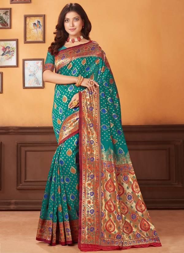 Glam Elegance Roohi Vol 15 Series MN1049-MN1064 Pure Banarasi Silk Latest Designer Sarees Collection