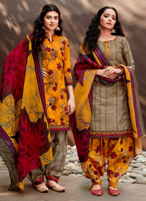 Sweety Fashion Non Stop Vol 44 Series 4001-4012 Soft Cotton Buy Now Daily Wear Printed Patiyala Wholesale Rate Suits Collection