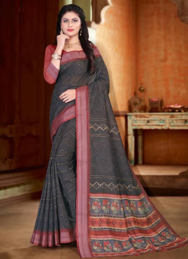 Silk Villa Aishwarya Series 18001-18014 Casual Wear New Designer Digital Printed Linen Sarees Collection For Women