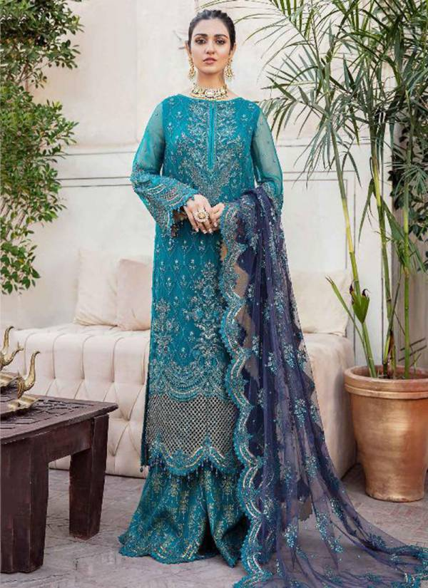 Shenyl Fab Afrozeh Vol 1 Series 1001-1005 Faux Georgette With Heavy Embroider & Diamond Work Latest Designer Wedding Wear Pakistani Suits Collection