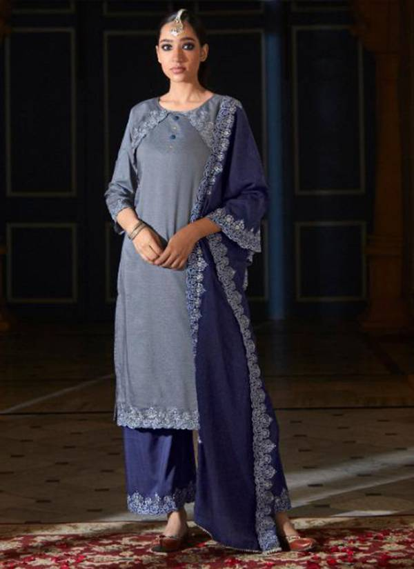 Kalki Fashion Izabella Vol 2 Series 64001-64006 Pure Weaving Butti Silk With designer Embroidery & Katha Work Readymade Salwar Suits Collection
