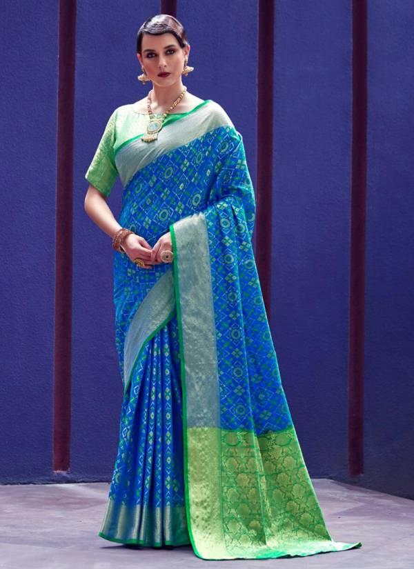 Rajtex Karnika Silk Patola Fancy Embroidery Work Wedding Wear Designer Sarees Collection