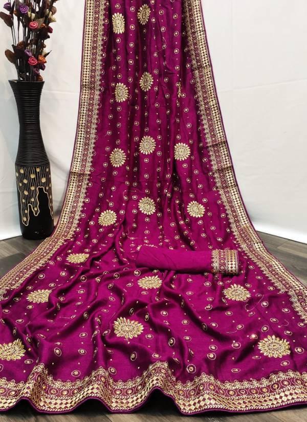 Ruhi Fashion Lady Angel Series 1LA-6LA Exclusive Vichitra Silk Two Tone Party Wear Sarees Collection