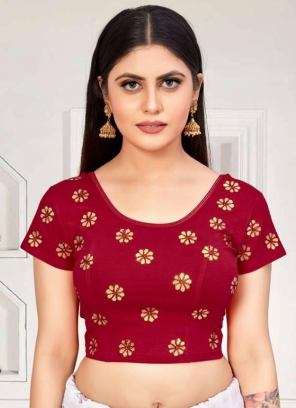 Ruhi Fashion  Lycra Cotton Stretchable Blouse Collection