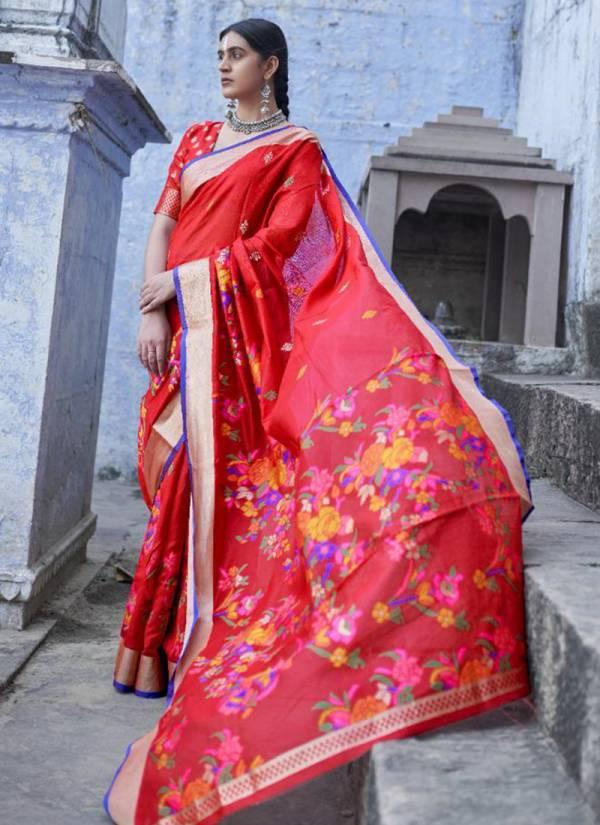 Rajtex Kushambika Pure Jamdani Fancy Digital Printed Work Wedding Wear Designer Sarees Collection