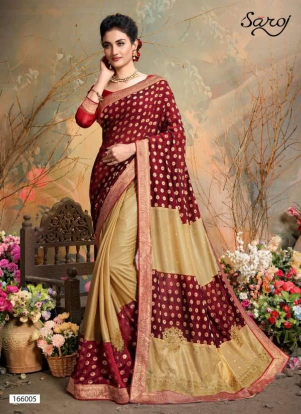 Saroj Aahana Lycra Designer Work Party Wear Sarees Collection