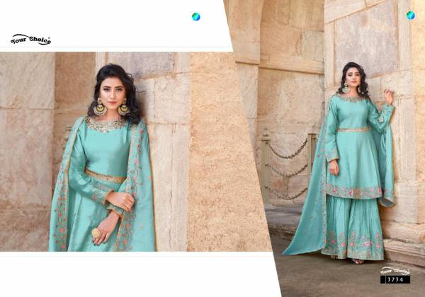 Your Choice Zebaa Jam Silk With Fancy Embroidery Work Party Wear Suit Collection