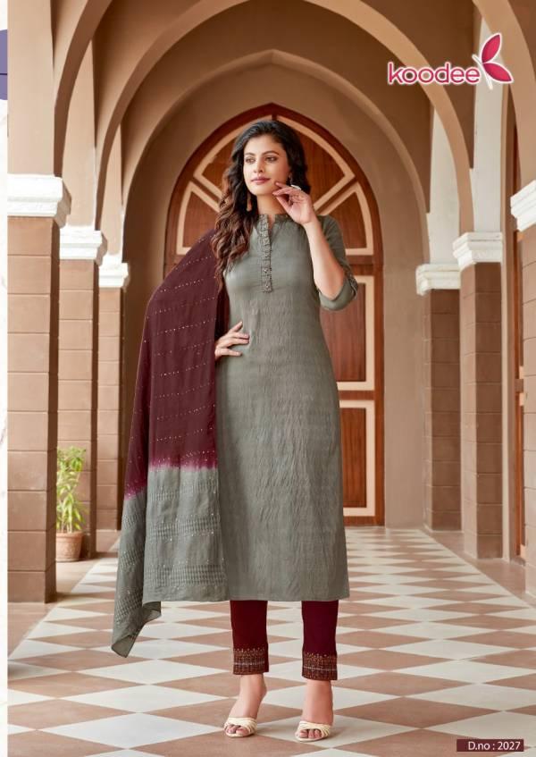 Koodee Saheli Vol 6 Pure Nylon Viscose With Weaving Work Readymade Salwar Suits Collection