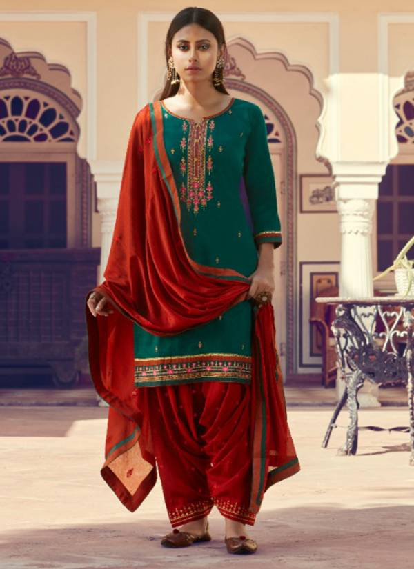 KVS Patrani Series 5611-5618 New Cotton Satin With Stylish Fancy Work Party Wear Suits Collection