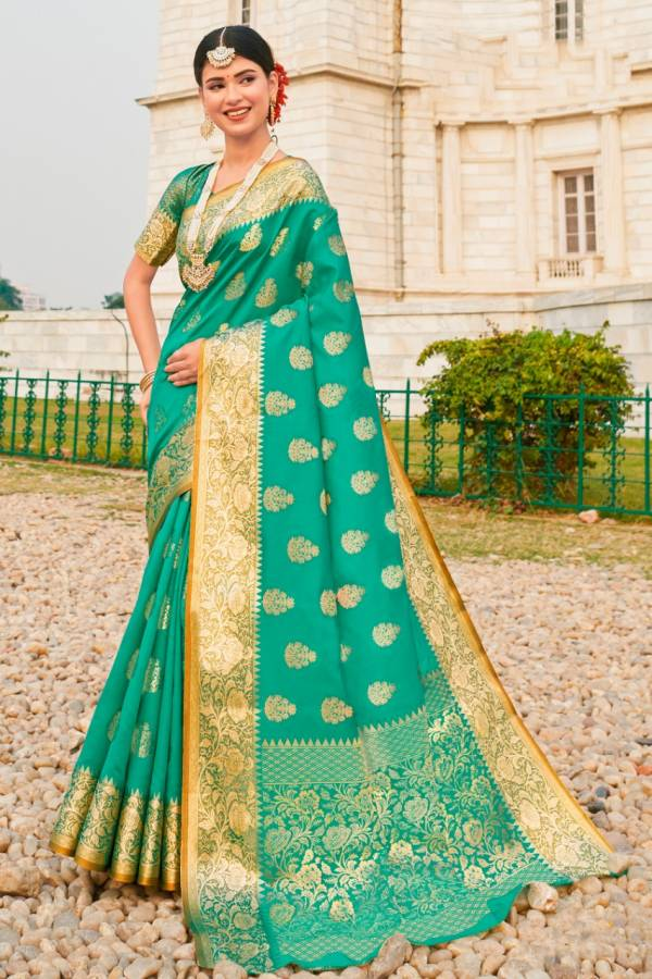 Sangam Prints Red Stone Silk With Heavy Embroidery Work And Rich Pallu Designer Sarees Collection