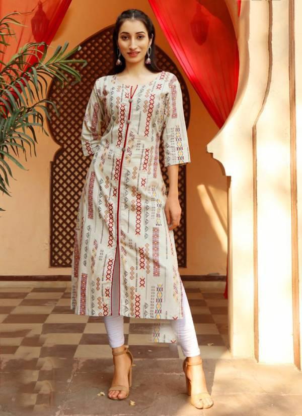 PK Fashion Trend Vol 2 Series 2001-2007 Pure Heavy Cotton Straight Cut Designer Fancy Printed Kurtis Collection