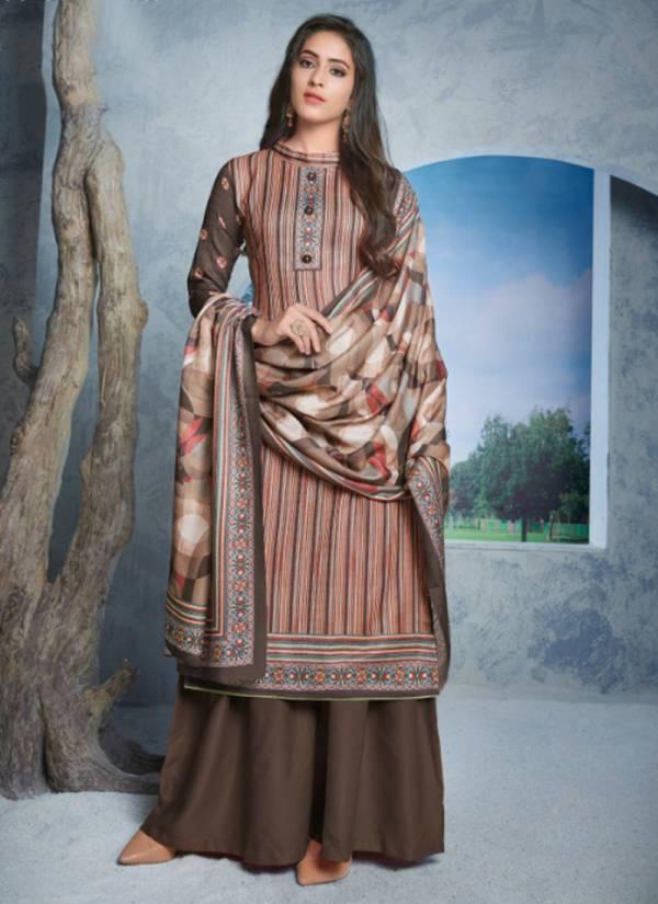 Bipson Chul Buli Series 1108-1111 Woollen Pashmina Digital Printed Winter Special Churidar & Palazzo Suits Collection