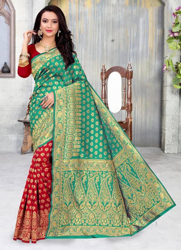 Kodas Taal Series 8025A-8025D Handloom Cotton Silk Stunning New Designer Festival Wear Sarees Collection