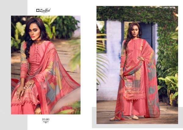 Zulfat Designer Navika Pure Cotton Digital Printed Work Wedding Wear Designer Palazzo Suits Collection