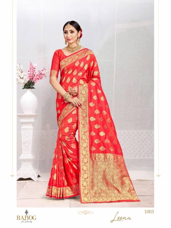 Rajyog Leena Silk Series 1001-1005 Soft Silk Weaving Exclusive Designer Traditional Wear Sarees Collection