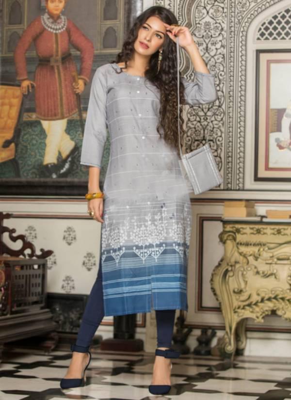S4U Shivali Fyre Vol 2 Series 01FYRE-08FYRE Cotton Printed New Designer Daily Wear Straight Cut Kurtis Collection