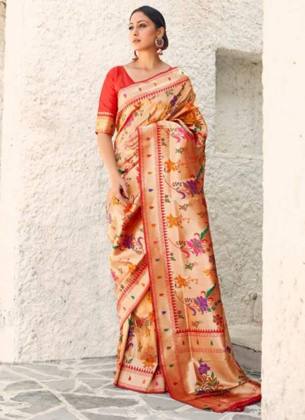 Rajtex Kandita Silk Series 155005-155009 Pure Paithani Silk Weaving Exclusive Designer Wedding Wear Sarees Collection