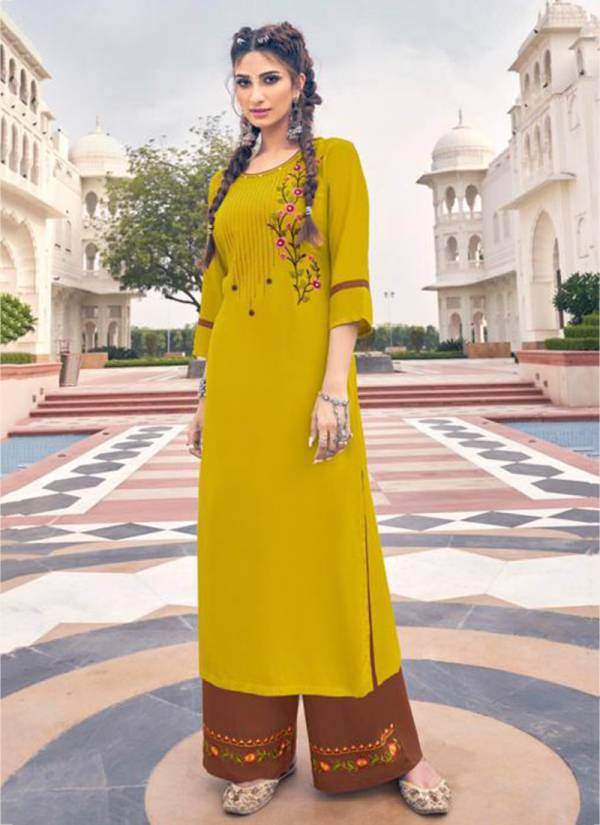 Style Max Ananya Vol - 6 Series 781-788 Heavy Airtex Rayon With Plazzo Stitch Embroidery Work Traditional Wear Plazzo Kurti Collections