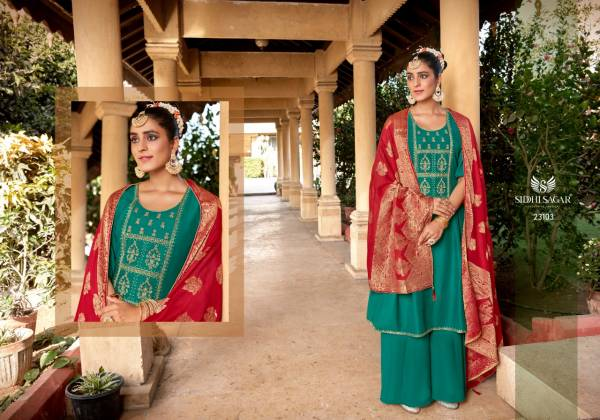 Siddhi Sagar Surkh Pure Muslin With Cording Hand Embroidery Work Salwar Suits Collection