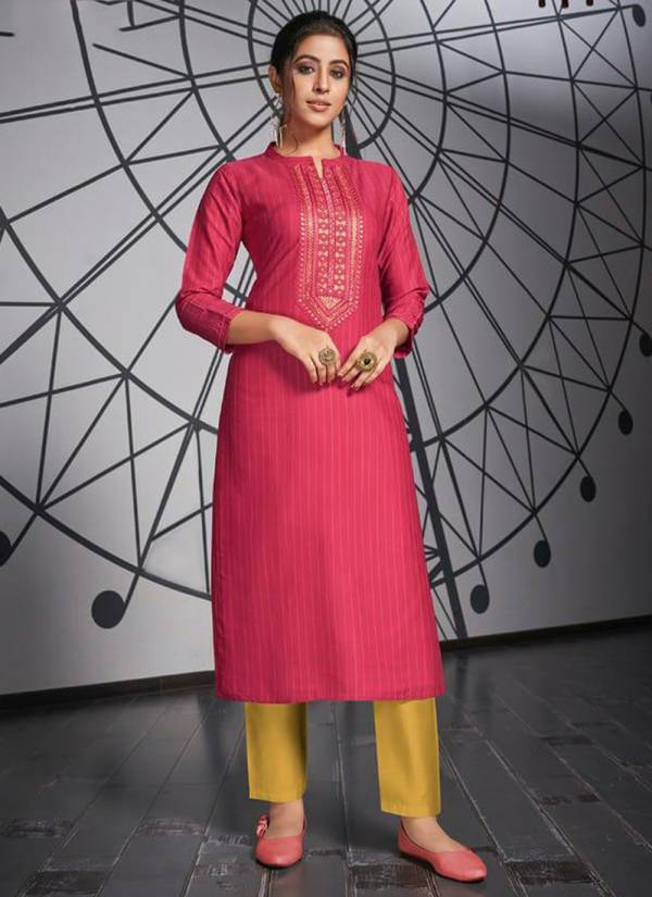 Rangoon Light Line Vol 3 Series 2651-2658 Fancy Lining Silk Work New Fancy Daily Wear Straight Cut Kurtis Collection
