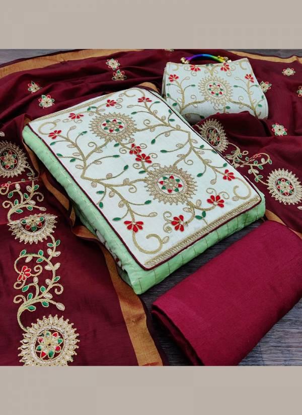 Shree Bherav Suits Series MCC-1-MCC-4 Modal Chanderi Choli Work Latest Designer Traditional Wear Salwar Suits Collection
