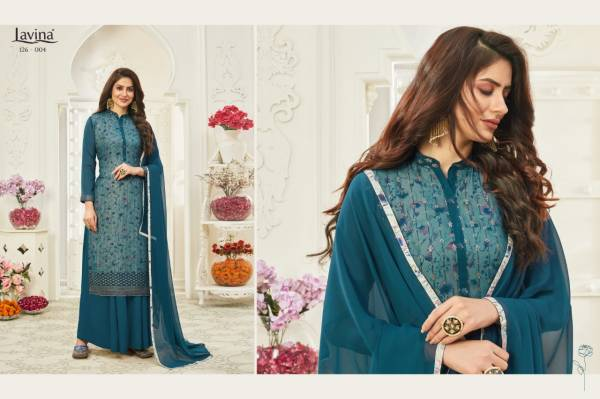 Lavina Vol 126 Georgette With Sequence Work Palazzo Suits Collection