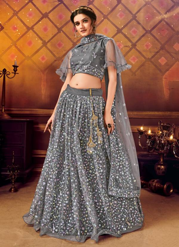 Dstyle Icon Fashion Panvi Series 1024-1029 Soft Net With Sequins Work Designer Party Wear Lehenga Cholis Collection