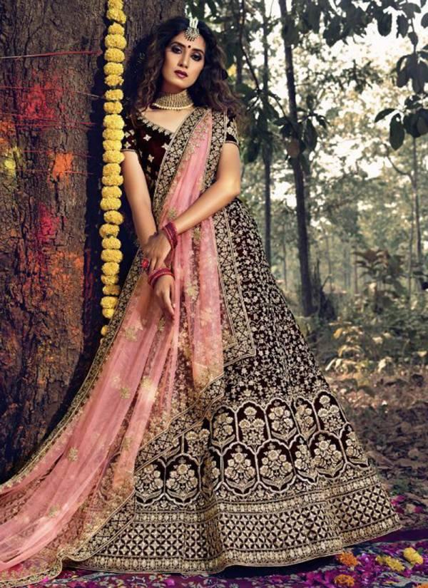 Arya Designs Gulkhand Vol 3 Series 3701-3706 Pure Velvet With Stone And Dori Work Latest Designer Bridal Lehenga Cholis Collection