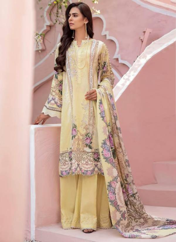Shree Fab Firdous pure Cotton With Embroidery And Digital Work Designer Pakistani Suits Collection