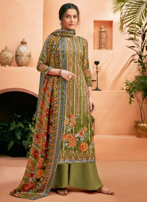 Harshit Fashion Nivita Series 516-001 - 516-010 Pure Wool Pashmina Print Daily Wear Winter Season Suits Collection