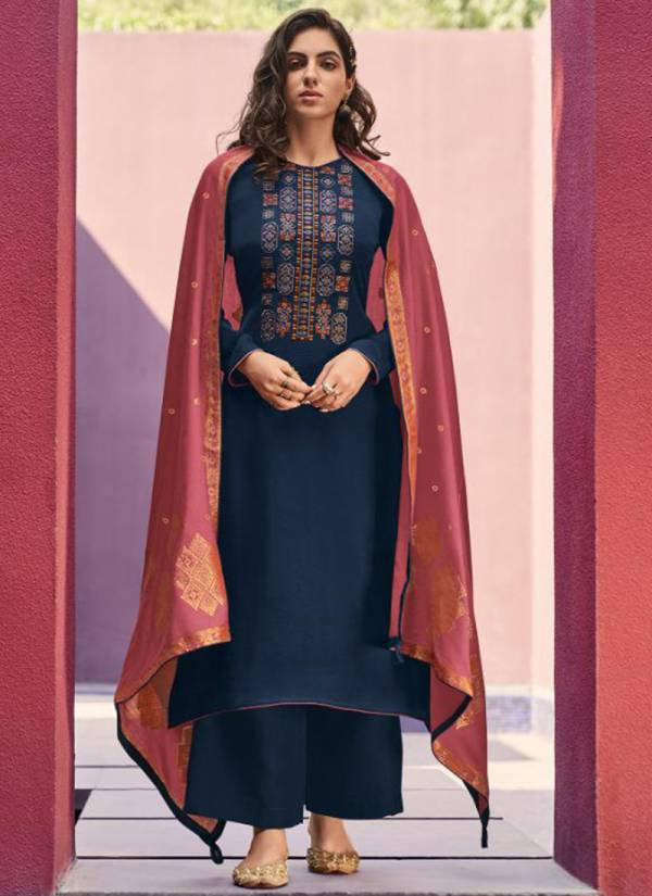 Deepsy Royal Touch-3 Series 86001-86006 Fancy Mini Silk With Fancy Embroidery Work Casual Wear Palazzo Suits Collection