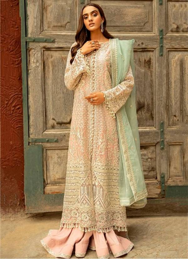 Ramsha R227 Series R-227A-R-227D Net Heavy Embroidery Work & Additional Work Latest Designer Party Wear Pakistani Suits Collection