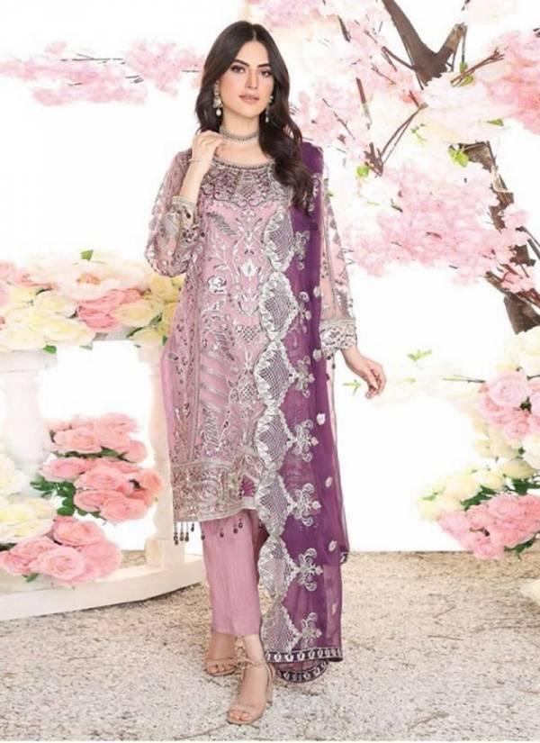 Saniya Trendz Series 31001-31002 Zebtan Faux Georgette Heavy Embroidery Work Pakistani Salwar Suits Collection