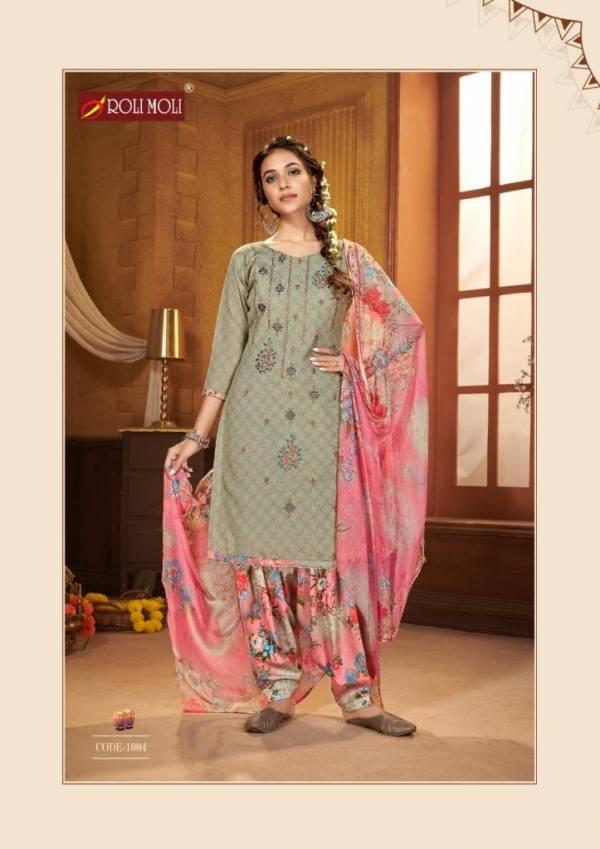 Roli Moli Kudi Patola Solid Cotton Designer Patiyala Suits Collection