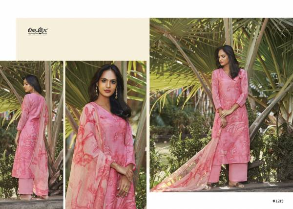 Om Tex Talika Series 1211-1219 Latino Cotton With Hand Work Designer Palazzo Suits Special Collection