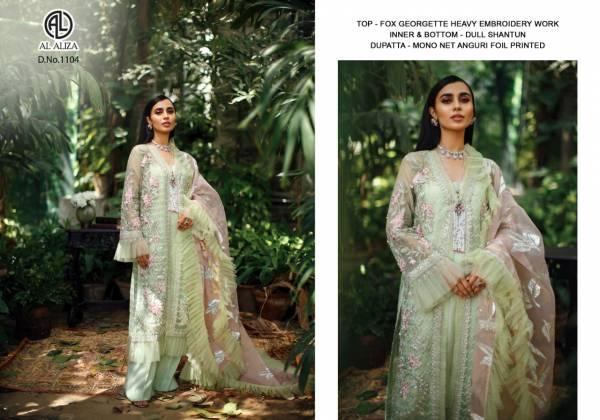 Al Aliza Faux Georgette Hit Design Pakistani Salwar Suits Collection