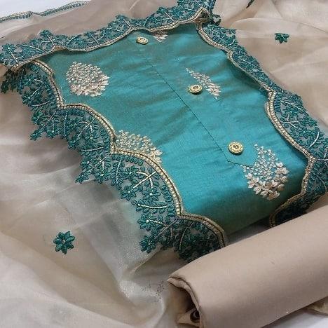 Designer Suits Series SM-015-SM-018 Semi Modal Multi Cut Work Latest Designer Casual Wear Non Catalog Salwar Suits Collection
