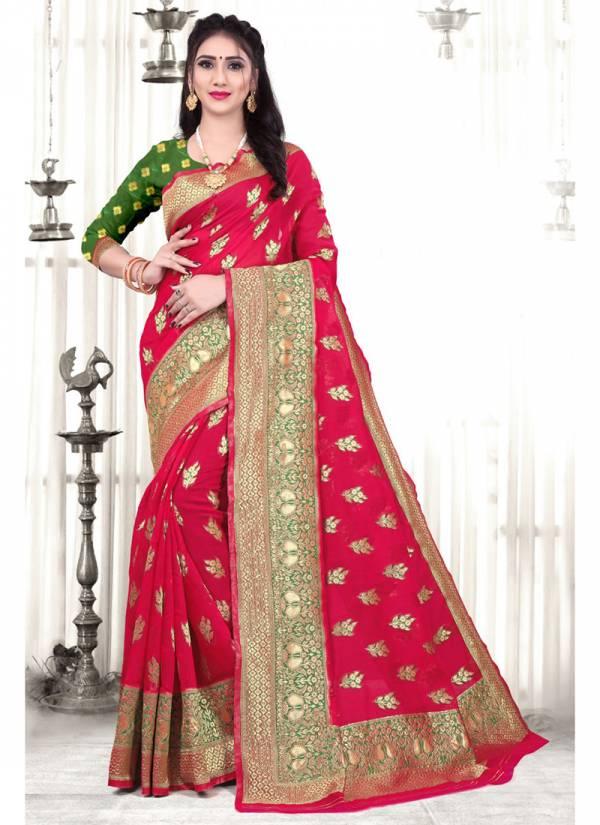 Kodas Gabrila Series 8203A-8203D Cotton Silk Jacquard Work New Fancy Wear & Trendy Festival Wear Handloom  Sarees Collection