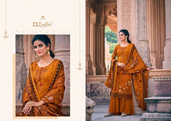 Zulfat Designer Suits Olive Series 210-001 - 210-010 Pashmina Print With Heavy Fancy Embroidery Work Designner Winter Suits Collection