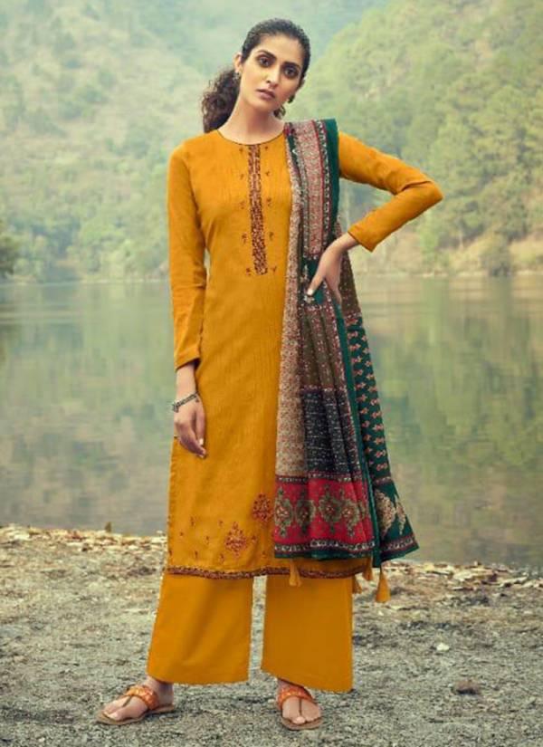 Levisha Anaya Pure Jam Cotton Print With Heavy Kashmiri Embroidery Work Festival Wear Designer Palazzo Suits Collection