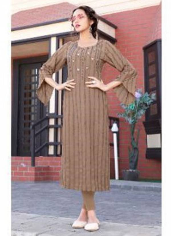 Sweety Fashion Perk Vol 2 Rayon Party Wear Straight Cut Kurtis Collection