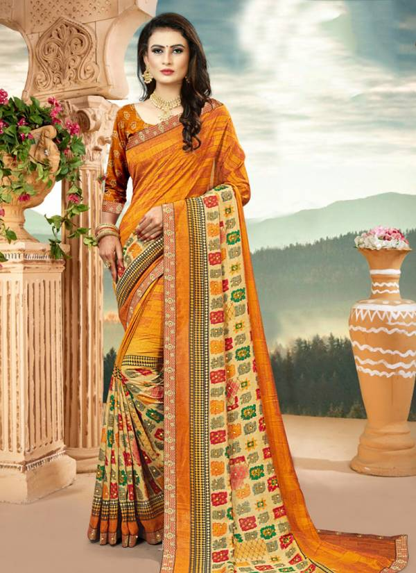 Kodas Khushboo Vol 5 Series 6252-6259 Vichitra Silk New Fancy Printed Casual Wear Buy Now Sarees Collection