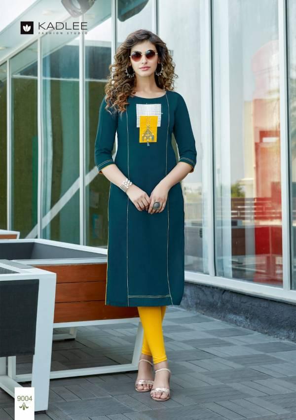 Kadlee Fashion Studio Artika Vol 1 Series 9001-9008 Heavy Rayon With Embroidery Work Daily Wear Kurtis Collection