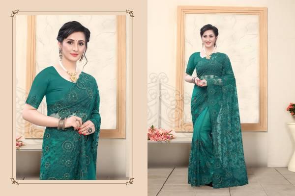 Utsav Nari Khwahish Series 791-799 Net With Heavy Resham Embroidery With Khatli Hand Work Designer Sarees Collection