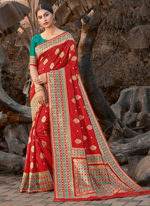 Sangam Prints Priya Anand Silk Fancy Embroidery Work With Designer Rich Pallu Wedding Wear Designer Sarees Collection