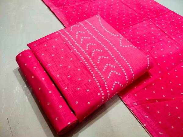 Designer Suits Pure Cotton With Batik Printed work Casual Wear Designer Dress Material Suits Collection