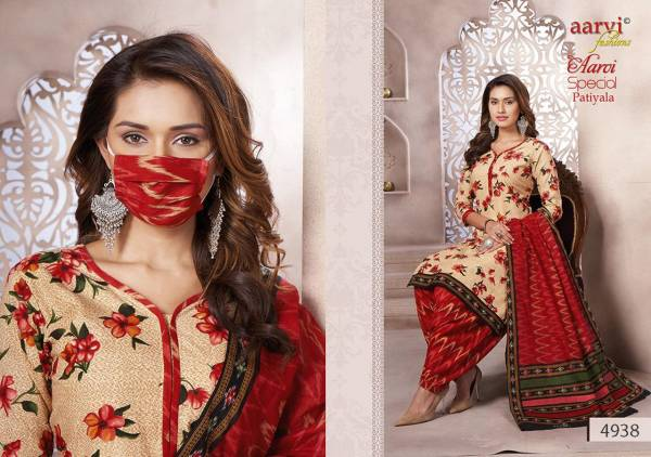 Aarvi Fashion Vol 14 Cotton Fancy Digital Prints Daily Wear Designer Patiyala Suits Collection