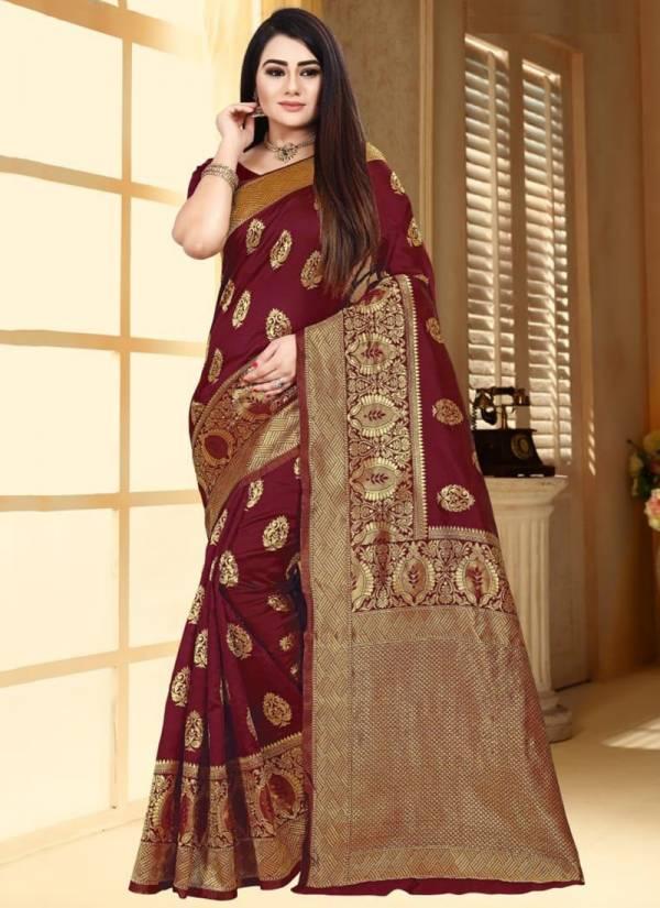 Naree Creation Anokhi Soft Banarasi Silk Weaving Jacquard Border Work Festival Wear Saree Collections