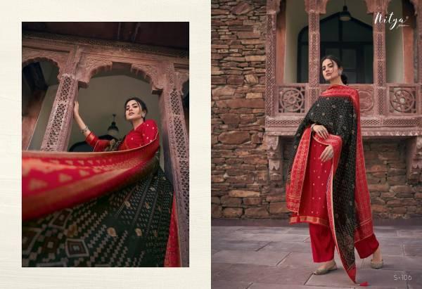 LT Fabrics Saiyra Series S-101 - S-106 Dola Jacquard With Fancy Work Designer Salwar Suits Collection