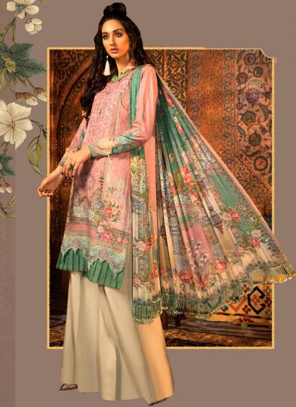 Sharaddha Designer M Prints Vol 5 Series 5001-5004 Lawn Cotton Printed Heavy Embroidery Work New Fancy Pakistani Suits Collection